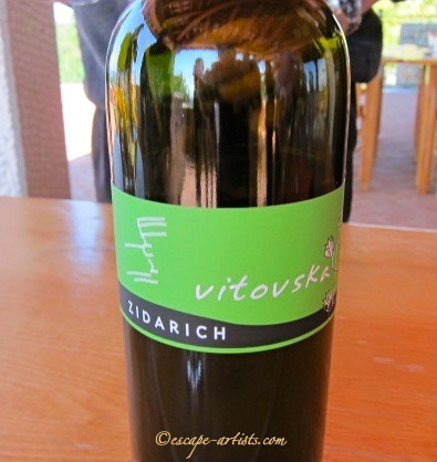 Zidarich's wine made with Vitovska grapes