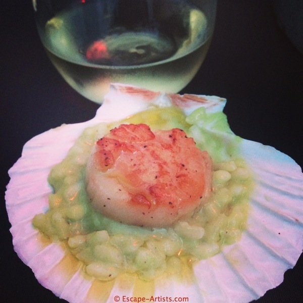 One of my favorite incarnations of Expo's ingredient rice, Drago's scallop risotto.