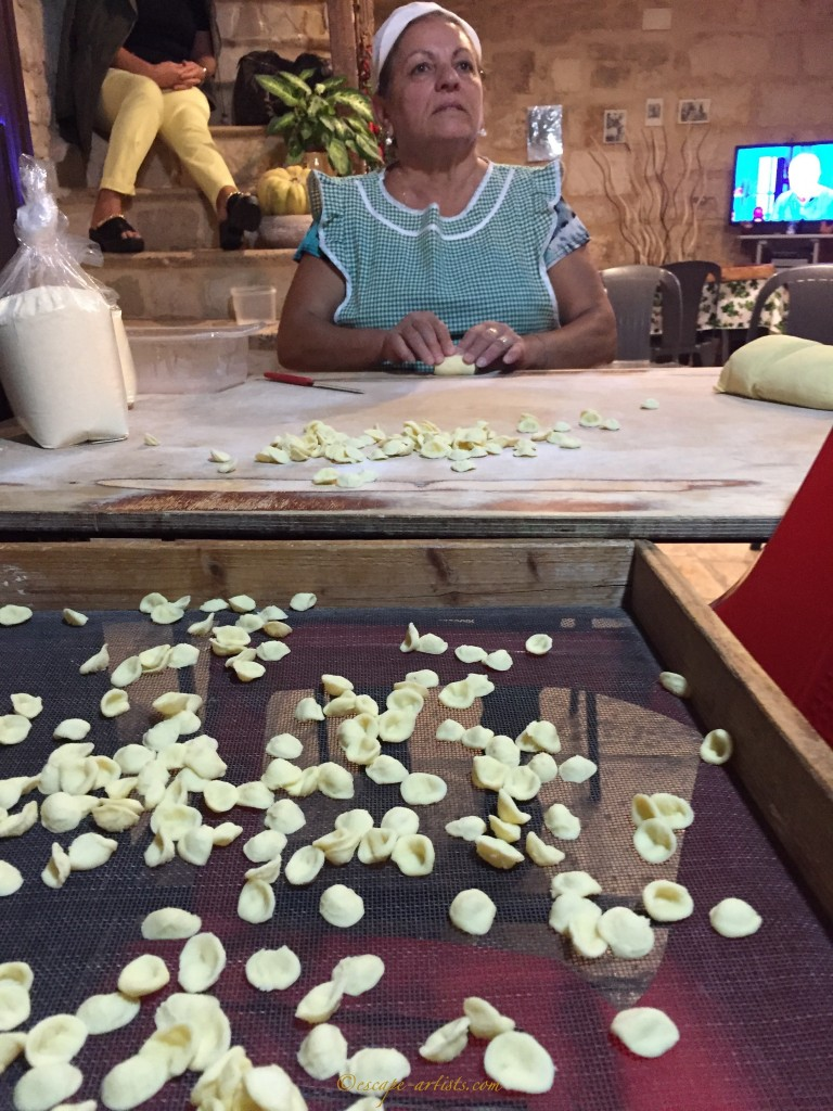 Multitasking with Puglia's main pasta, orecchiete