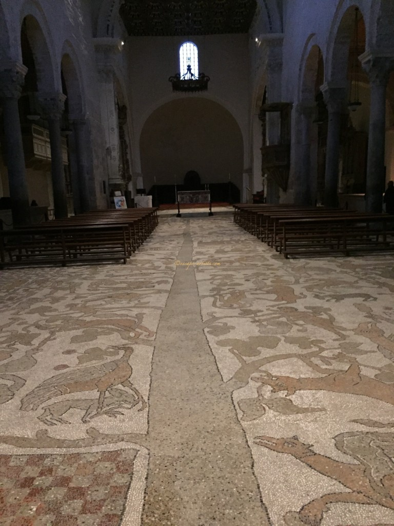 The Tree of Life remains the overal theme of the mosaic floor