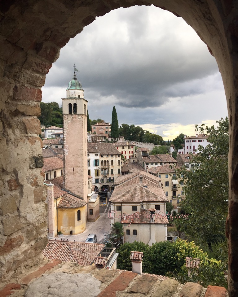 Looking out over Asolo