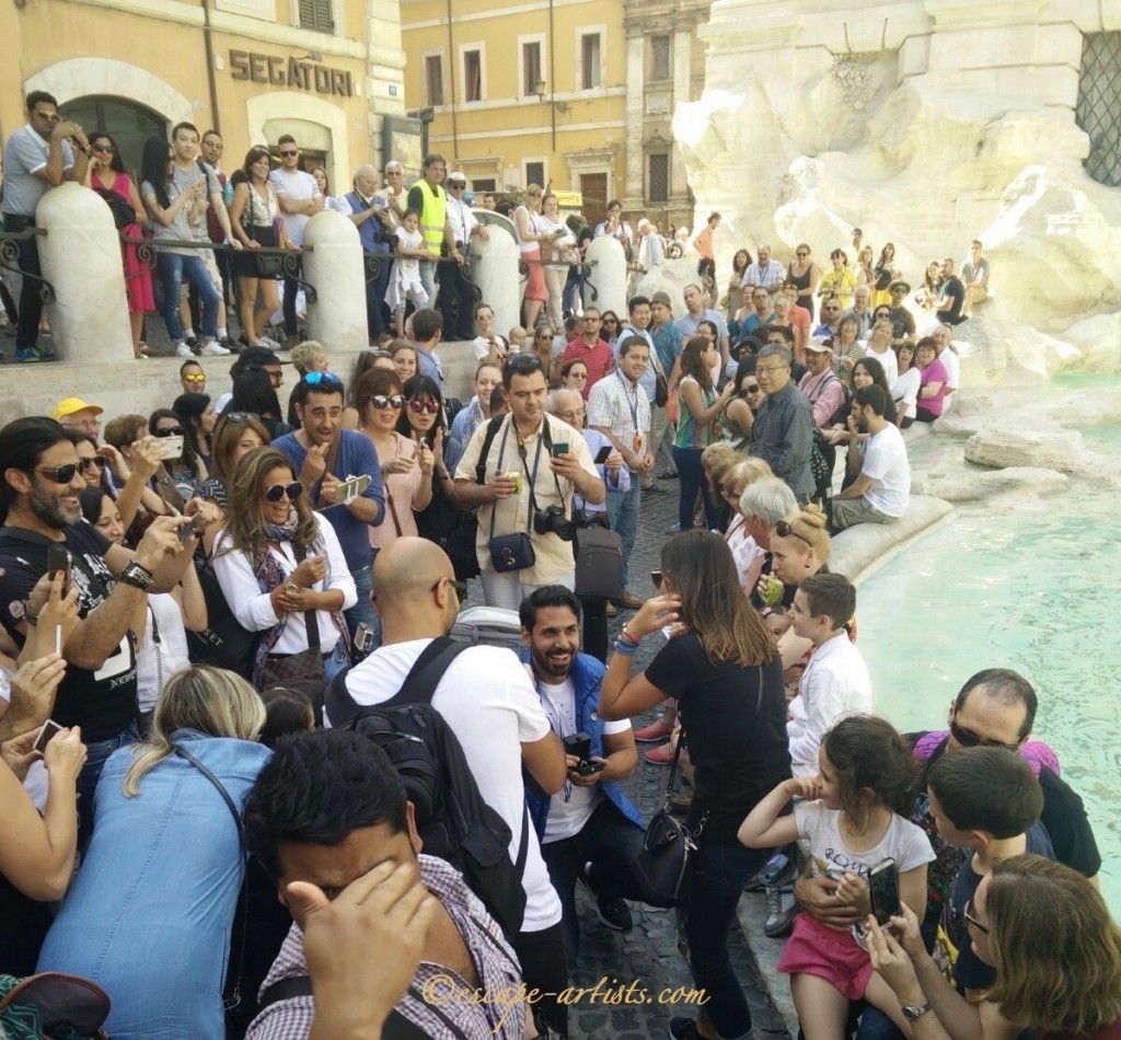 One of the most romantic places in Rome, as this lucky lady found out!