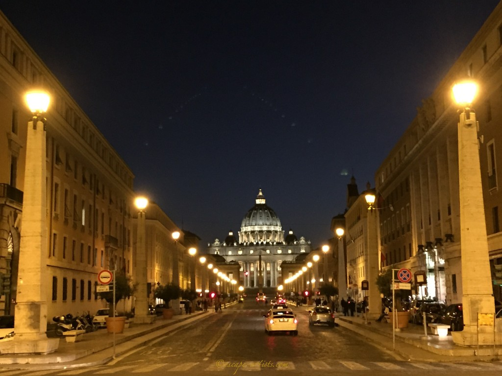 The iconic St Peter's Cathedral in the Vatican