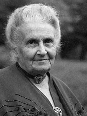 A later portrait of Maria Montessori.