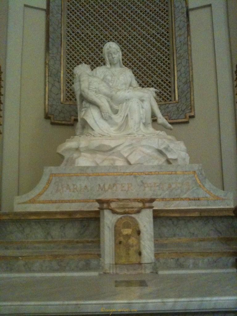 The Eremo's Pieta replica
