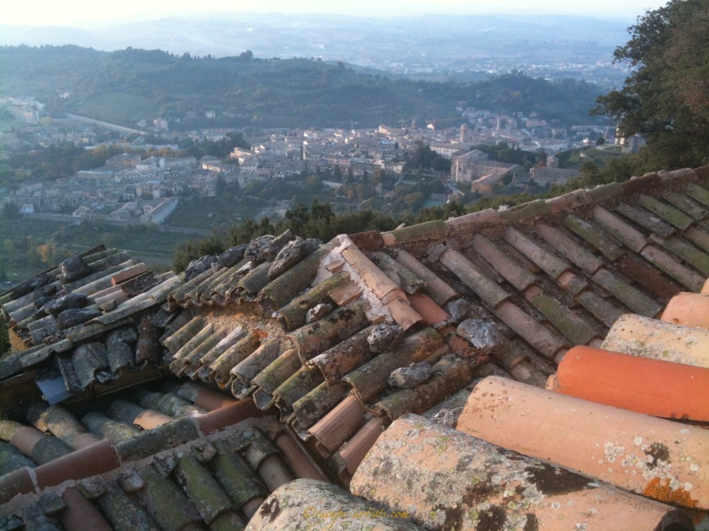 Looking out over the town of Spoleto