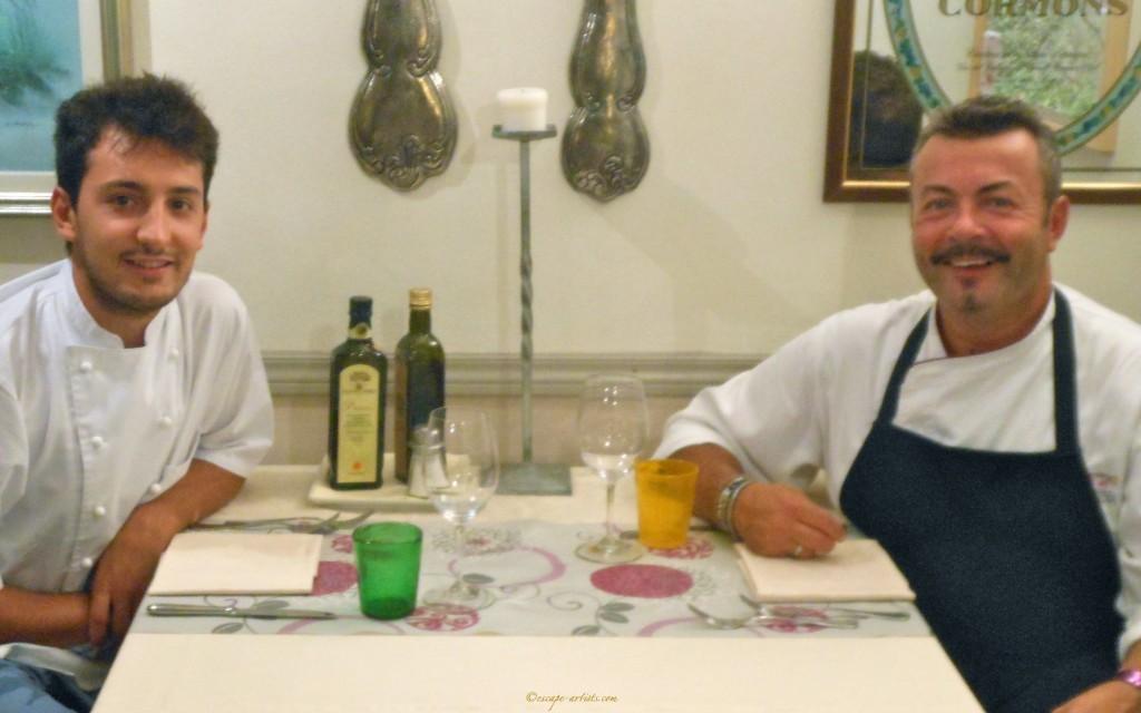 Chefs Fabio Triacchini and Simone Arcari