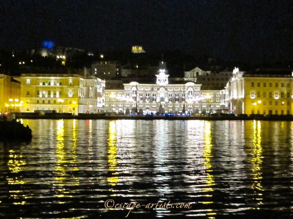 Savoia Excelsior Palace overlooking the port of Trieste