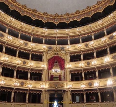 Beautiful opera house in Cremona's city center