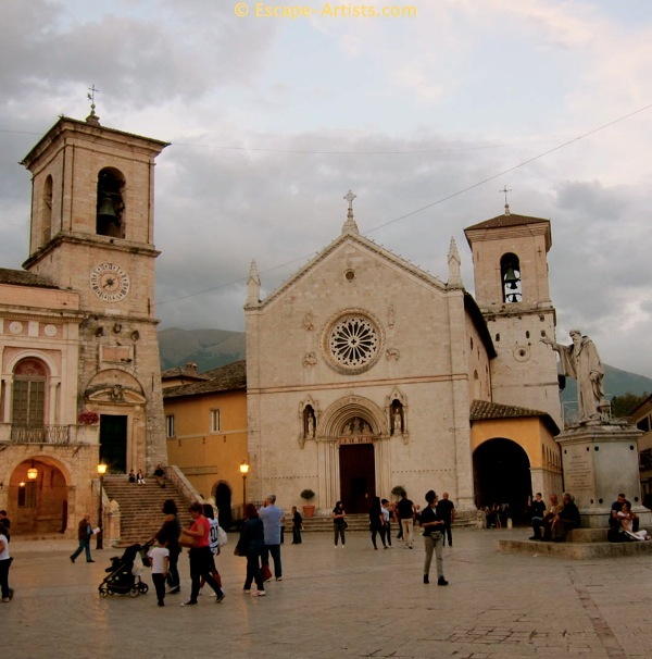 Piazza San Benedetto, home to the Benedictine monks