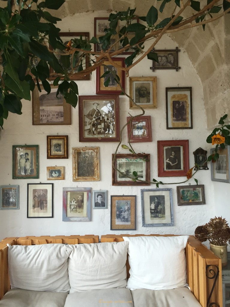 The Wall of Fame, with all the staff's old family photos.