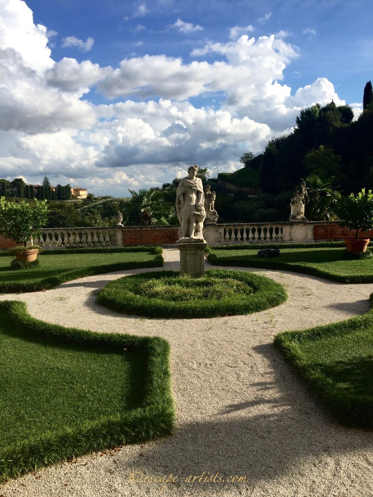 One of Asolo's private villa gardens